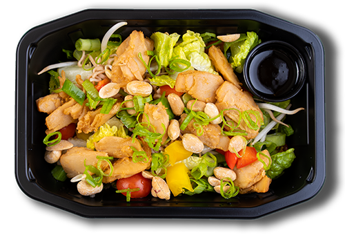 Vegansk like chicken thai salat